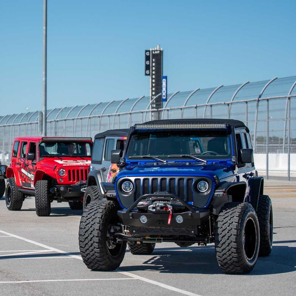 Außen und Innen Jeep Beach 2021